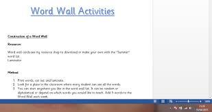 Summer Word List Word Wall Pack Summer Theme Infants 4th Class