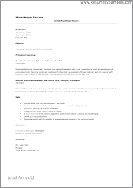 Executive Housekeeper Resume Custom Housekeeper Resume Sample Housekeeping Resume Housekeeping Resume