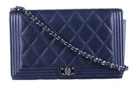 CHANEL Blue Caviar Quilted Boy Wallet On Chain Crossbody Bag | eBay & Image is loading CHANEL-Blue-Caviar-Quilted-Boy-Wallet-On-Chain- Adamdwight.com