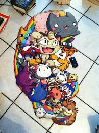 Cool Designs With Perler Beads Cool Cats 27 000 Beads Diy Perler Beads Perler Bead
