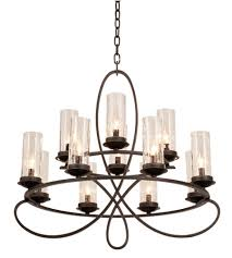 kalco 2675hb 1100 grayson 12 light 32 inch heirloom bronze chandelier ceiling light in seeded side glass 1100 without crystals hierloom bronze