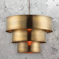 3 round tiered pendant light