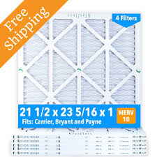 Carrier Filter Size Chart 21 1 2x23 5 16x1 Merv 10 Glasfloss Pleated Air Filter Box Of 6 Made In Usa