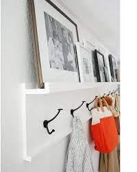 rustic coat rack wall shelf coat hooks