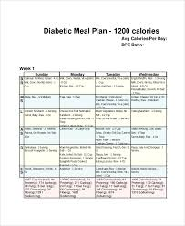 Diabetes Meal Planning Pdf Sample Weekly Meal Plan 8 Examples In Pdf