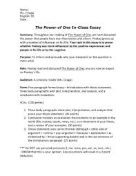 synthesis essay mt hood community college the power of one in class essay