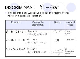 discriminant of quadratic math quadratic formula and discriminant worksheet pdf of definition math in discriminant maths