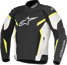 alpinestars gp plus r v2 leather jacket clothing jackets motorcycle black white yellow