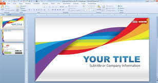 How To Create A Template In Powerpoint 2010 Widescreen Rainbow Template For Powerpoint Presentations