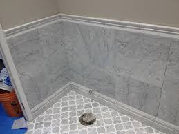 white carrara marble bathroom. White Carrara Marble Tile Wall Bathroom