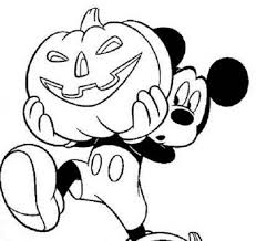 Small Picture Disney Mickey Mouse And Pumpkin Halloween Coloring Pages