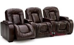 rhumba 3 seat leather reclining home theater seating straight