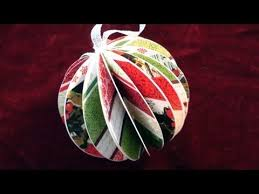 How To Make Paper Balls For Decoration Delectable How To Make A Paper Ball Christmas Ornament YouTube
