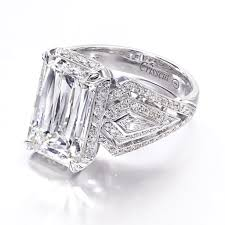 Christopher Designs Christopher Designs Emerald Cut Engagment Ring Mounting