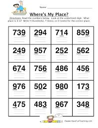 Grade Place Value Worksheets For Free Printable Kindergarten 1 ...