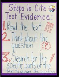 Text Based Evidence Anchor Chart Citing Text Evidence In 6 Steps Upper Elementary Snapshots