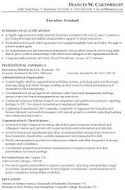 Sample Combination Resume Executive Assistant