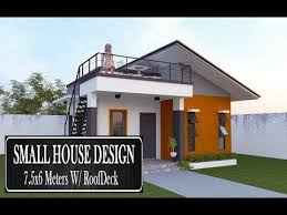 small house design with roof deck 7