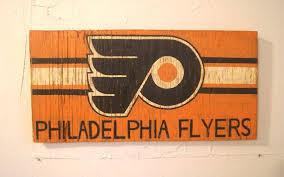 Flyers Flag Philadelphia Flyers Sign Wooden Flyers Flag Wood By Halyard
