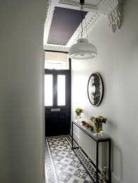 Black And White Tile Floor Foyer
