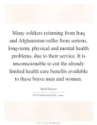 many solrs returning from iraq and afghanistan suffer from serious long term physical