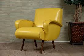 yellow leather chair chairs seating with decorations 7