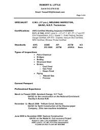 construction inspector resumes ndt inspector resume sample fred resumes