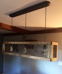 rustic ceiling light fixtures design a wood box with en wire and edison lights modern ceiling