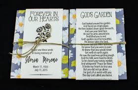 memorial wildflower seed packets with daisies