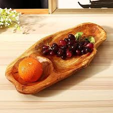 generic natural serving tray fruit bread plate wooden breakfast dish tea bed