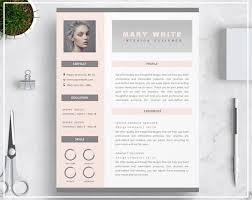 Modern Resume Etsy Pink Resume Template Pink Cv Template Creative Resume Template Design Modern Resume Template Professional Cv Template Instant Download