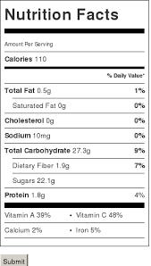 Nutrition Facts For Watermelon Spirulina Smoothie I Sugar