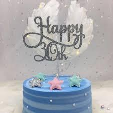 Glitter 30 40 60 70 80 All Colours 50 Cake Topper Birthday Number