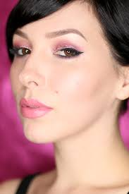 too faced chocolate bon bons and pink glitter eyes makeup tutorial by keiko lynn