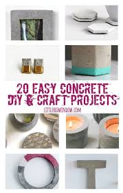 20 Easy DIY Concrete Craft Projects!