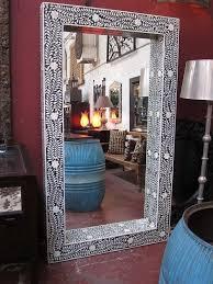 full length inlay mirror antique