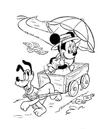 Minnie En Pluto Kleurplaat Jouwkleurplaten