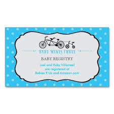 Tandem Bicycle Baby Shower Registry Card Zazzle Com
