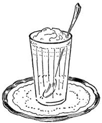 iced coffee clipart black and white. Brilliant White Throughout Iced Coffee Clipart Black And White D