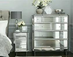 next mirrored furniture. Tall Chest Of Drawers Next To Bed Mirrored Furniture Pewter Brand New Dresser Bedroom A