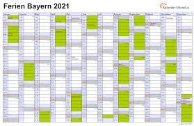 Bekijk hier de online kalender 2021. Ferien Bayern 2021 Ferienkalender Zum Ausdrucken