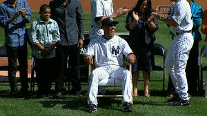 chair made of baseball bats mo gets rocker from yanks