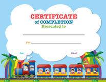 Certification Template Certification Template For Science Award Stock Vector Illustration