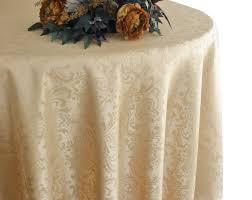 108 round jacquard damask polyester tablecloth champagne 96528 1pc pk