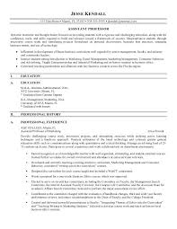 Sample Professor Resume Cv Professor Template Under Fontanacountryinn Com