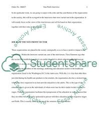 Non Profit Interview Essay Example Topics And Well Written