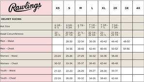 Rawlings Baseball Pants Size Chart Rawlings Baseball Helmet Size Chart Best Picture Of Chart