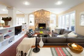 living room decor with sectional. Living Room Ideas With Sectional Sofas. Sofas Mini Cabinet And Fireplace Decor