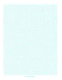 Printable Diamond Graph Paper 1cm