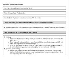 Common Core Lesson Plan Template Nyc Doe - Atanswerme.com
